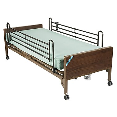 Drive Medical Delta Ultra Light Semi Electric Bed, Full Rails, Foam Mattress