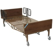 Drive Medical Full Electric Bariatric Hospital Bed, 1 Set of T Rails