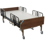 Drive Medical Full Electric Bariatric Hospital Bed, Mattress and 1 Set of T Rails