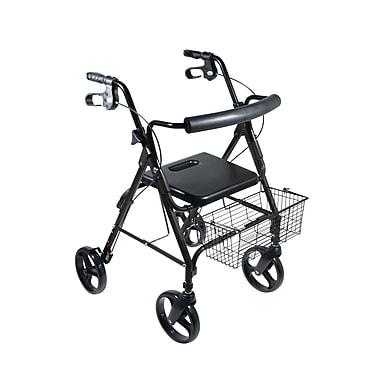 Drive Medical - Rollator D-Lite avec roues de 8 pouces et verrouillages en boucles, bleu nuit