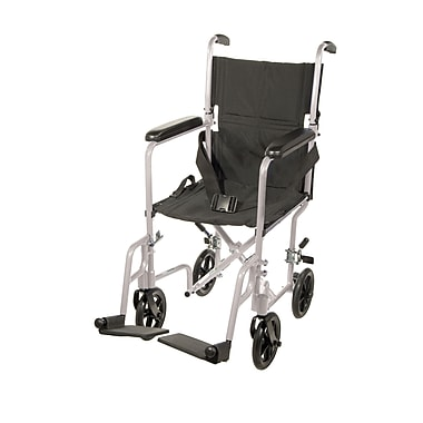 Drive Medical Lightweight Transport Wheelchair, Silver, 17