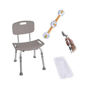 Drive Medical Shower Tub Chair Bathroom Safety Bundle
