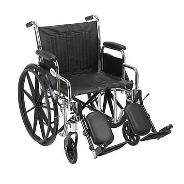 Drive Medical Chrome Sport Wheelchair, Detach Desk Arm, Legrest, 20