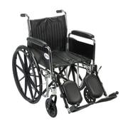"Drive Medical Chrome Sport Wheelchair, Detach Full Arm, Legrest, 18"""