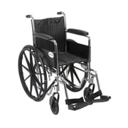 Drive Medical Chrome Sport Wheelchair, Fixed Full Arm, Footrest, 16""