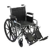 "Drive Medical Chrome Sport Wheelchair, Detach Desk Arm, Legrest, 18"""