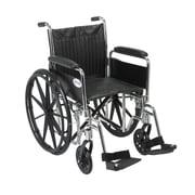 Drive Medical Chrome Sport Wheelchair, Detach Full Arm, Footrest, 18