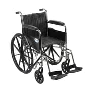 Drive Medical Chrome Sport Wheelchair, Fixed Full Arm, Footrest, 18