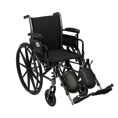 Drive Medical Cruiser III Wheelchair with Removable Flip Back Arms, Adj Desk Arms, Legrest, 18