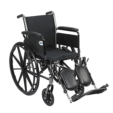 Drive Medical Cruiser III Wheelchair with Removable Flip Back Arms, Full Arms, Legrest, 16