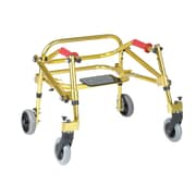 Wenzelite Nimbo Rehab Lightweight Posterior Posture Walker with Seat, Golden Yellow, Tyke