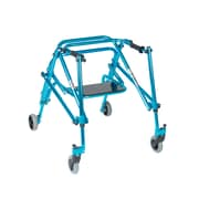 Wenzelite Nimbo Rehab Lightweight Posterior Posture Walker with Seat, Cornflower Blue, Youth