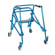 Wenzelite Nimbo Rehab Lightweight Posterior Posture Walker with Seat, Midnight Blue, Young Adult