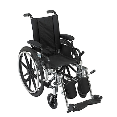 Drive Medical Viper Wheelchair with Flip Back Removable Arms
