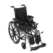 Drive Medical Viper Wheelchair with Flip Back Removable Arms, Desk Arms, Legrest, 12""