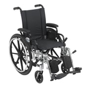 Drive Medical Viper Wheelchair with Flip Back Removable Arms, Desk Arms, Legrest, 14""
