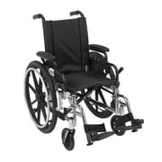 Drive Medical Viper Wheelchair with Flip Back Removable Arms, Desk Arms, Footrest, 14""