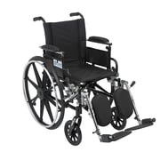 Drive Medical Viper Wheelchair with Flip Back Removable Arms, Adj Desk Arms, Legrest, 16