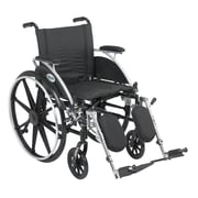 Drive Medical Viper Wheelchair with Flip Back Removable Arms, Desk Arms, Legrest, 18