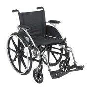 Drive Medical Viper Wheelchair with Flip Back Removable Arms, Desk Arms, Footrest, 18