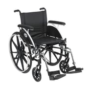 Drive Medical Viper Wheelchair with Flip Back Removable Arms, Full Arms, Footrest, 18