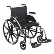 Drive Medical Viper Wheelchair with Flip Back Removable Arms, Desk Arms, Footrest, 20""