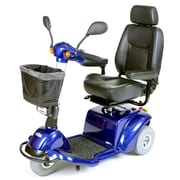 Drive Medical Pilot 3-Wheel Power Scooter, Blue, 18 seat