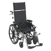 "Drive Medical Viper Plus Reclining Wheelchair with Detachable Arms, 14"" Seat"