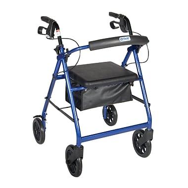 Drive Medical - Rollator avec dossier amovible et siège rembourré, roues de 7,5 po, bleu