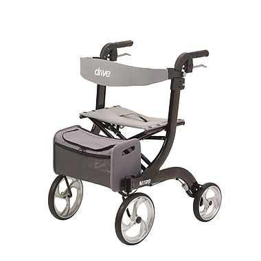 Drive Medical Nitro Euro Style Rollator Walker, Black