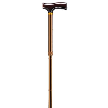 Drive Medical Lightweight Adjustable Folding Cane with T Handle, Bronze