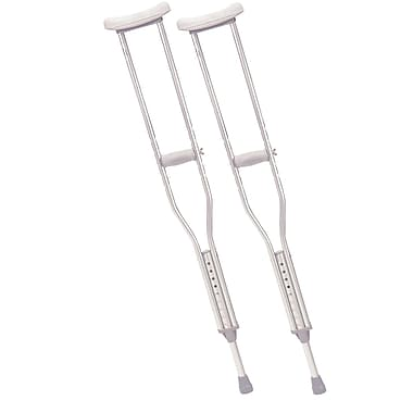 Drive Medical Walking Crutches with Underarm Pad and Handgrip, Adult