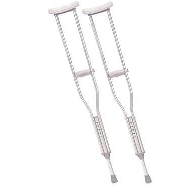 Drive Medical Walking Crutches with Underarm Pad and Handgrip, Tall Adult