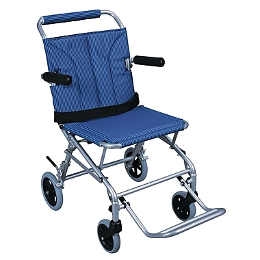 Drive Medical Super Light Folding Transport Wheelchair with Carry Bag