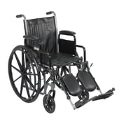 "Drive Medical Silver Sport 2 Wheelchair, Desk Arms, Legrest, 18"" Seat"