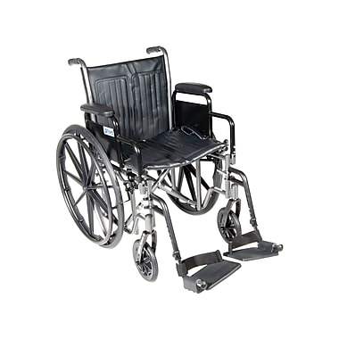 Drive Medical Silver Sport 2 Wheelchair, Desk Arms, Footrest, 18