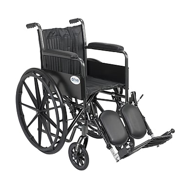 Drive Medical Silver Sport 2 Wheelchair, Fixed Arms, Legrest, 18