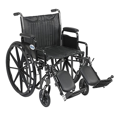 Drive Medical Silver Sport 2 Wheelchair, Desk Arms, Legrest, 20