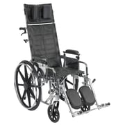 Drive Medical Sentra Reclining Wheelchair, Adj Desk Arms, 16 Seat