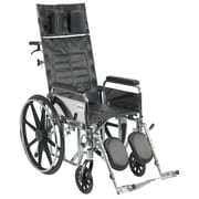 Drive Medical Sentra Reclining Wheelchair, Full Arms, 18 Seat