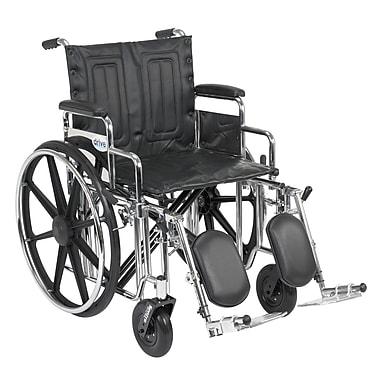 Drive Medical Sentra Extra Heavy Duty Wheelchair, Desk Arms, Legrest, 20