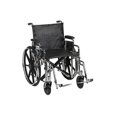Drive Medical Sentra Extra Heavy Duty Wheelchair, Desk Arms, Footrest, 20