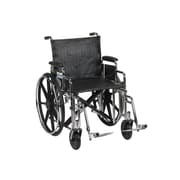 """Drive Medical Sentra Extra Heavy Duty Wheelchair, Desk Arms, Footrest, 20"""""""