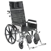 Drive Medical Sentra Reclining Wheelchair, Full Arms, 20 Seat