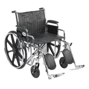 "Drive Medical Sentra EC Heavy Duty Wheelchair, Desk Arms, Legrest, 22"" Seat"