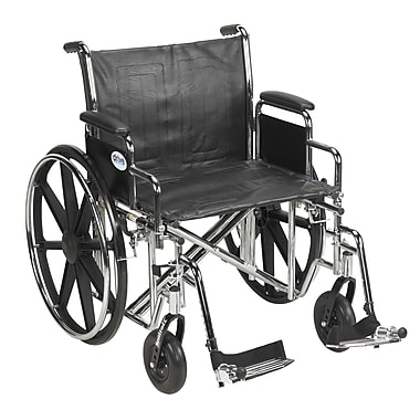 Drive Medical Sentra EC Heavy Duty Wheelchair, Desk Arms, Footrest, 22