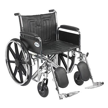 Drive Medical Sentra EC Heavy Duty Wheelchair, Full Arms, Legrest, 22