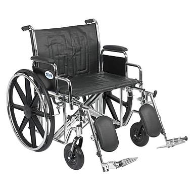 Drive Medical Sentra EC Heavy Duty Wheelchair, Desk Arms, Legrest, 24