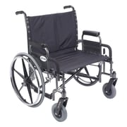 "Drive Medical Sentra Extra Wide Heavy Duty Wheelchair, Detachable Desk Arms, 28"" Seat"