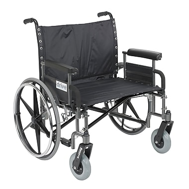 Drive Medical Sentra Extra Wide Heavy Duty Wheelchair, Detachable Full Arms, 30